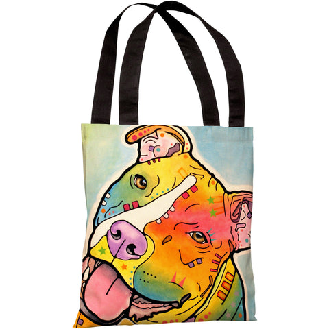 """Skittles"" 18""x18"" Tote Bag by Dean Russo"