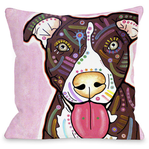 """Bliss"" Indoor Throw Pillow by Dean Russo, 16""x16"""