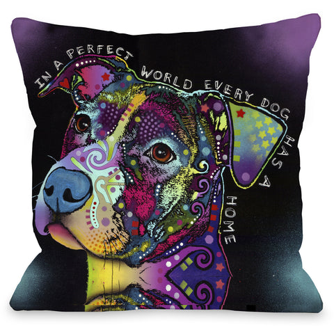 """In a Perfect World"" Indoor Throw Pillow by Dean Russo, 16""x16"""