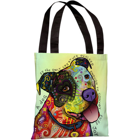 """Pure Joy"" 18""x18"" Tote Bag by Dean Russo"