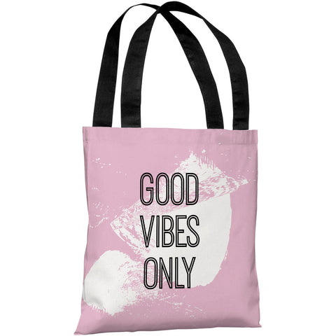 """Good Vibes Only"" 18""x18"" Tote Bag by OneBellaCasa"