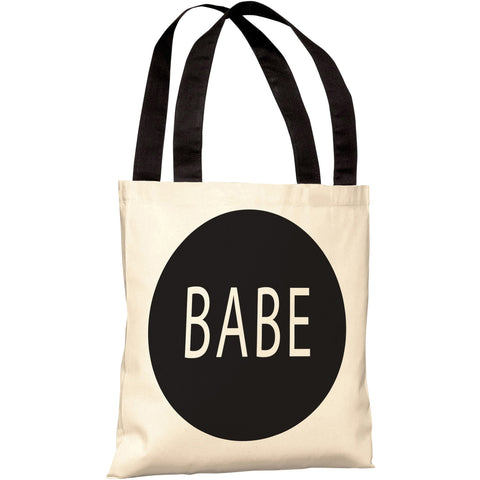 """Babe"" 18""x18"" Tote Bag by OneBellaCasa"
