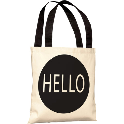 """Hello"" 18""x18"" Tote Bag by OneBellaCasa"