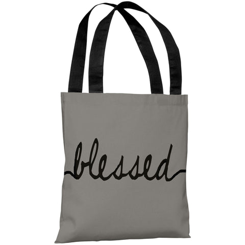 """Blessed"" 18""x18"" Tote Bag by OneBellaCasa"