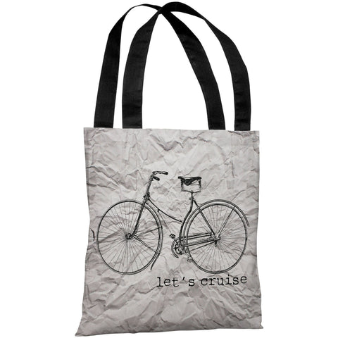 """Let's Cruise Paper Texture"" 18""x18"" Tote Bag by OneBellaCasa"
