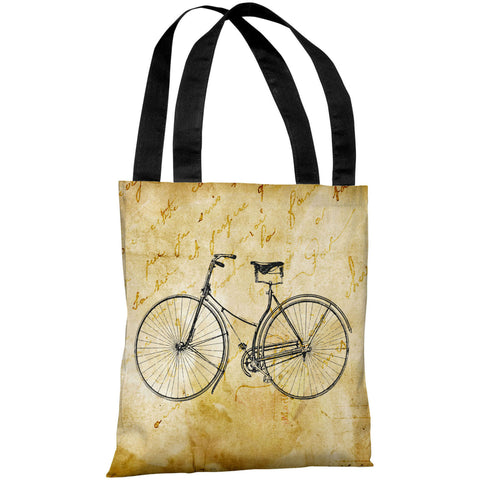 """Vintage Bike"" 18""x18"" Tote Bag by OneBellaCasa"