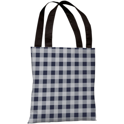 """Classic Gingham"" 18""x18"" Tote Bag by OneBellaCasa"