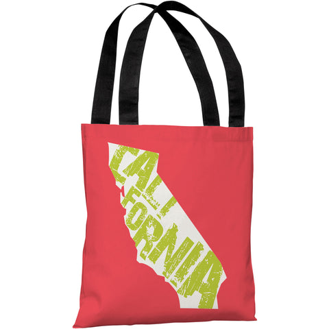 """California State Type"" 18""x18"" Tote Bag by OneBellaCasa"