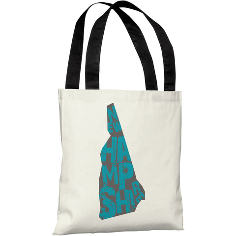 """New Hampshire State Type"" 18""x18"" Tote Bag by OneBellaCasa"