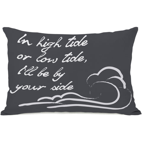 """High Tide Or Low Tide"" Outdoor Throw Pillow by OneBellaCasa, 14""x20"""