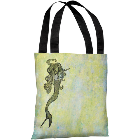 """Mermaid"" 18""x18"" Tote Bag by OneBellaCasa"