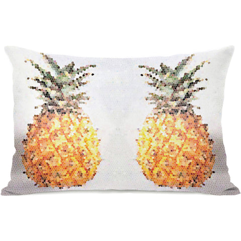 """Pineapple Half"" Outdoor Throw Pillow by OneBellaCasa, 14""x20"""