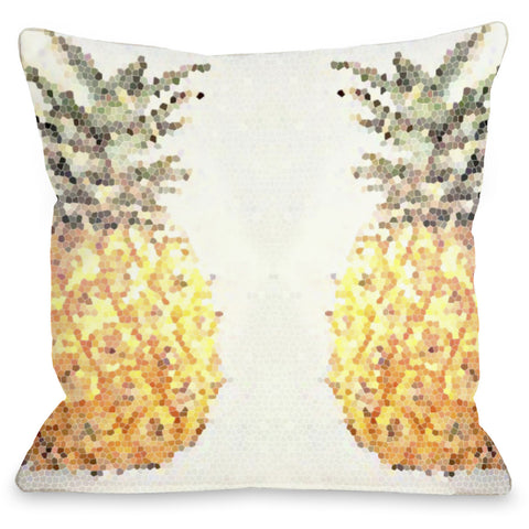 """Pineapple Half"" Outdoor Throw Pillow by OneBellaCasa, 16""x16"""