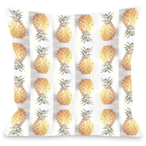 """Pineapple Pattern"" Outdoor Throw Pillow by OneBellaCasa, 16""x16"""