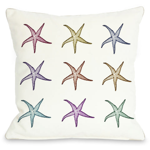 """Starfish Pattern"" Indoor Throw Pillow by OneBellaCasa, 16""x16"""