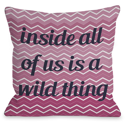 """A Wild Thing Chevron"" Indoor Throw Pillow by OneBellaCasa, 16""x16"""