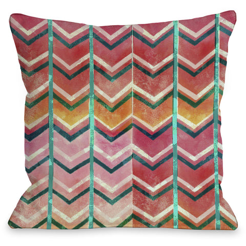 """Textured Ombre"" Outdoor Throw Pillow by OneBellaCasa, 16""x16"""