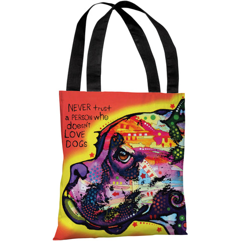 """Profile Boxer"" 18""x18"" Tote Bag by Dean Russo"
