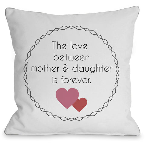 """Mother & Daughter"" Indoor Throw Pillow by OneBellaCasa, Charcoal, 16""x16"""