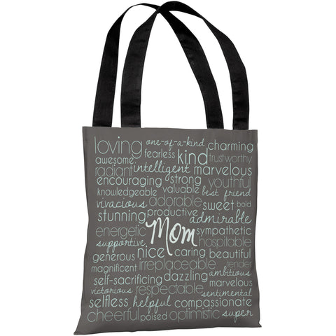 """Mom Words"" 18""x18"" Tote Bag by OneBellaCasa"