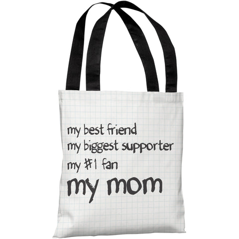 """My Mom"" 18""x18"" Tote Bag by OneBellaCasa"