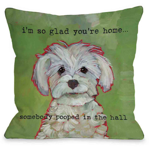 """So Glad You're Home"" Indoor Throw Pillow by Ursula Dodge, 16""x16"""