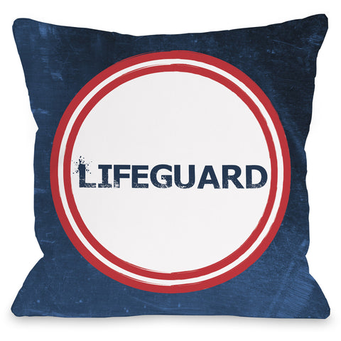 """Lifeguard"" Outdoor Throw Pillow by OneBellaCasa, 16""x16"""