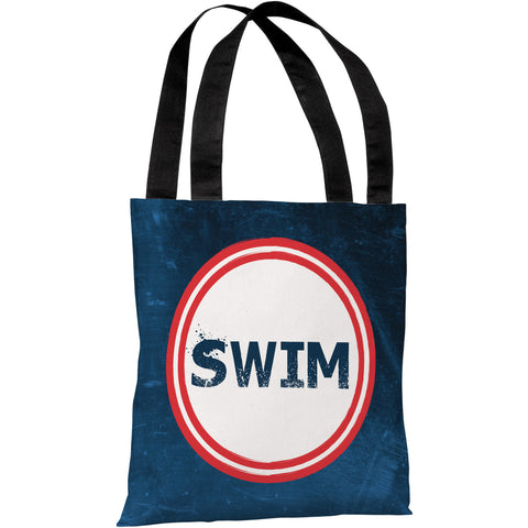 """Swim"" 18""x18"" Tote Bag by OneBellaCasa"