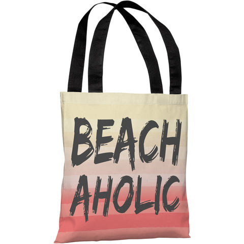 """Beachaholic"" 18""x18"" Tote Bag by OneBellaCasa"