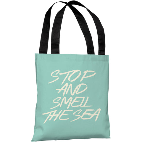 """Stop And Smell The Sea"" 18""x18"" Tote Bag by OneBellaCasa"