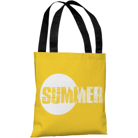"""Summer Text"" 18""x18"" Tote Bag by OneBellaCasa"