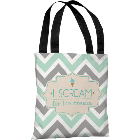 """I Scream For Ice Cream"" 18""x18"" Tote Bag by OneBellaCasa"