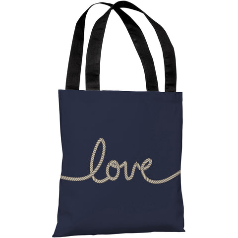"""Love Rope"" 18""x18"" Tote Bag by OneBellaCasa"