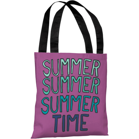 """Summer Summer Time"" 18""x18"" Tote Bag by OneBellaCasa"