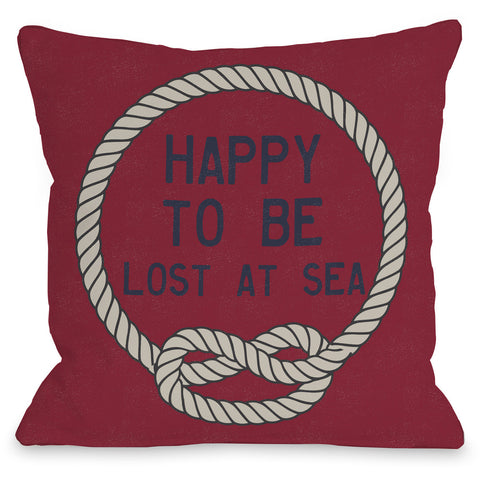 """To Be Lost At Sea"" Indoor Throw Pillow by OneBellaCasa, Navy, 16""x16"""