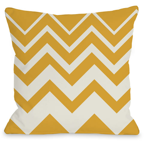 """Lisa Chevron"" Indoor Throw Pillow by OneBellaCasa, Pink/Ivory, 16""x16"""