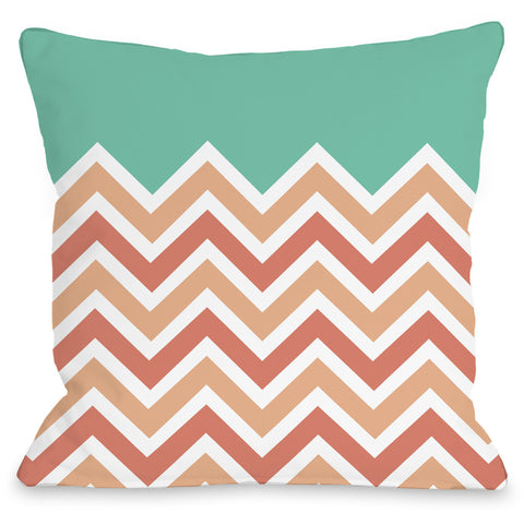 """Chevron Solid"" Outdoor Throw Pillow by OneBellaCasa, 16""x16"""