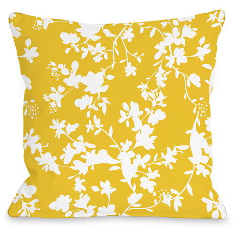 """Penelope Florals"" Outdoor Throw Pillow by OneBellaCasa, 16""x16"""