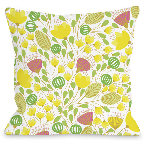 """Playful Summer Afternoon"" Outdoor Throw Pillow by OneBellaCasa, 16""x16"""
