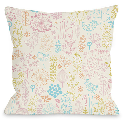 """Jenna's Playground"" Outdoor Throw Pillow by OneBellaCasa, 16""x16"""