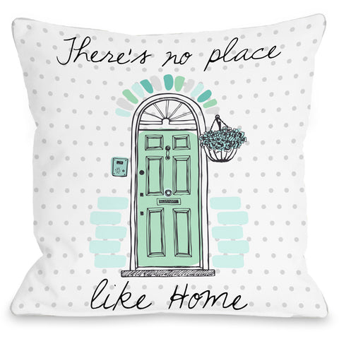 """No Place Like Home"" Indoor Throw Pillow by OneBellaCasa, 16""x16"""