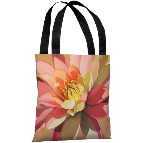 """Pond Lily"" 18""x18"" Tote Bag by Graviss Studios"
