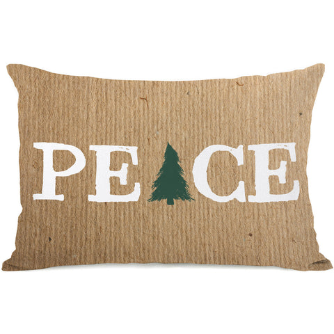 """Peace Tree Paper"" Indoor Throw Pillow by OneBellaCasa, 14""x20"""
