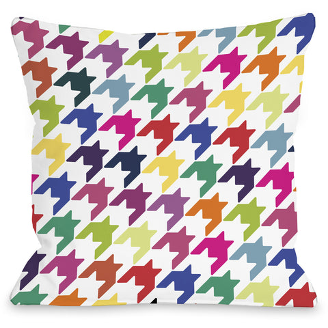 """Hannah Houndstooth"" Outdoor Throw Pillow by OneBellaCasa, 16""x16"""