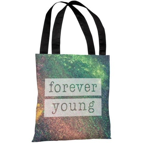 """Forever Young Galaxy"" 18""x18"" Tote Bag by OneBellaCasa"