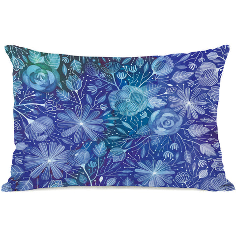 """Electric Flowers"" Indoor Throw Pillow by Ana Victoria Calderon, 14""x20"""