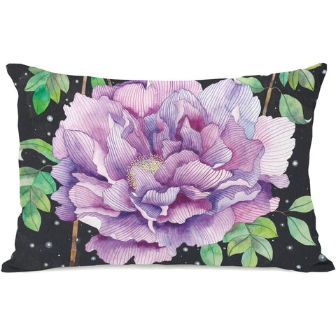 """Midnight Bloom"" Outdoor Throw Pillow by Ana Victoria Calderon, 14""x20"""