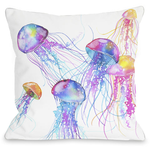 """Mermaid In The Sky"" Outdoor Throw Pillow by OneBellaCasa, 14""x20"""