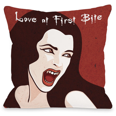 """First Bite"" Indoor Throw Pillow by OneBellaCasa, 16""x16"""