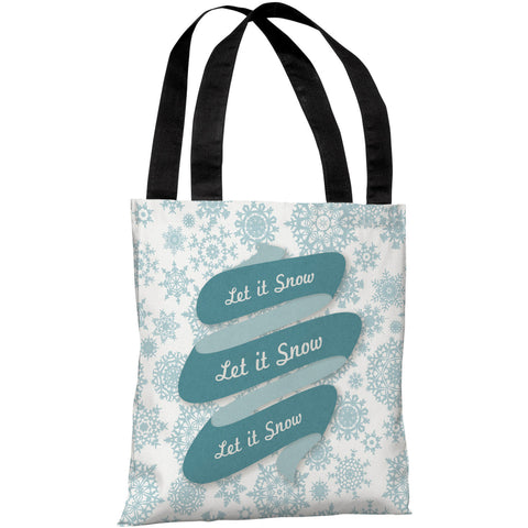 """Let It Snow"" 18""x18"" Tote Bag by OneBellaCasa"